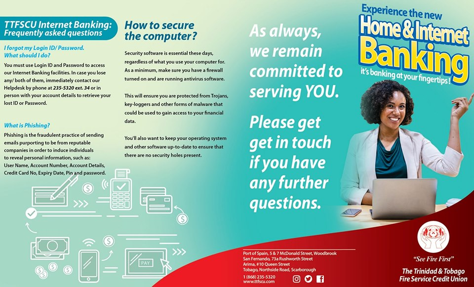Home And Internet Banking Trinidad And Tobago Fire Service Credit Union
